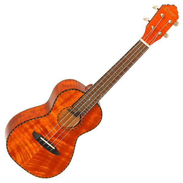 Ortega RUE11FMH Electro-Acoustic Concert Ukulele, Flamed Mahogany