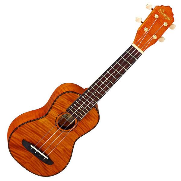 Ortega RUE10FMH Electro-Acoustic Soprano Ukulele, Flamed Mahogany