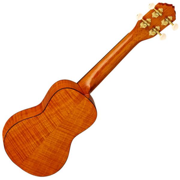Ortega RUE10FMH Electro-Acoustic Soprano Ukulele, Flamed Mahogany - back