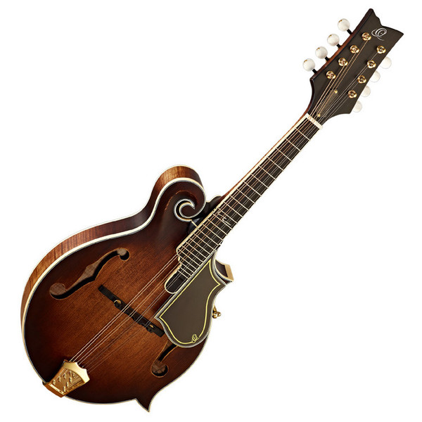 Ortega RMF100AVO F-Style Mandolin, Distressed, Antique Violin Oiled