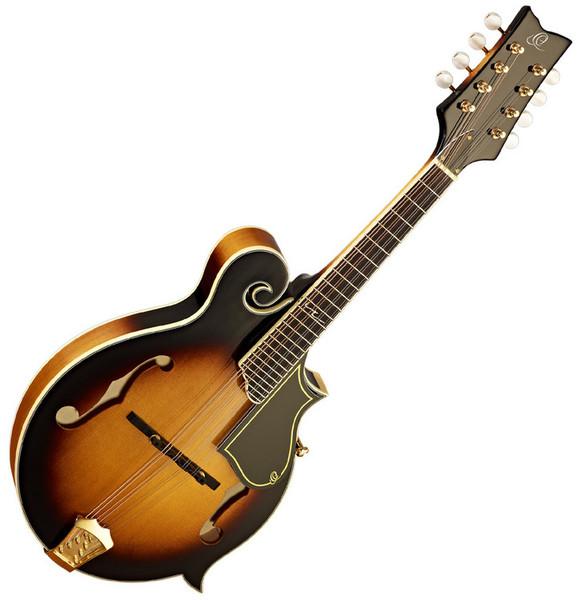 Ortega RMF90TS F-Style Mandolin, Solid Spruce Top, Tobacco Sunburst