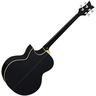Ortega D1-4-BK Deep Series Acoustic Bass, Black High Gloss Rear