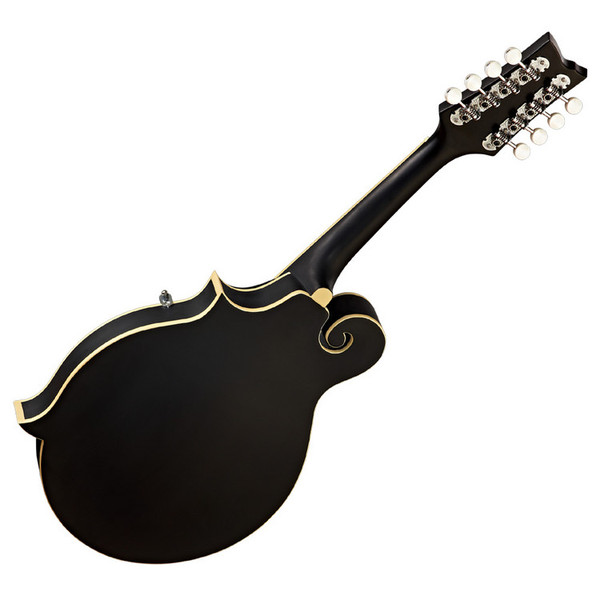 Ortega RMFE40SBK F-Style Mandolin, Piezo Built-in Bridge, Satin Black - back
