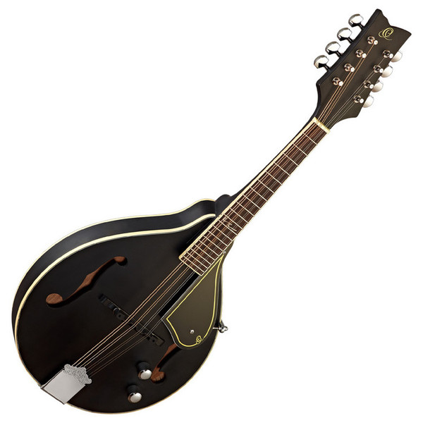Ortega RMAE40SBK A-Style Mandolin, Piezo Built-in Bridge, Satin Black