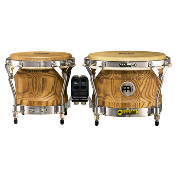 Meinl WB500ZFA-M Free Ride Series Woodcraft Bongo, Zebra Finished Ash