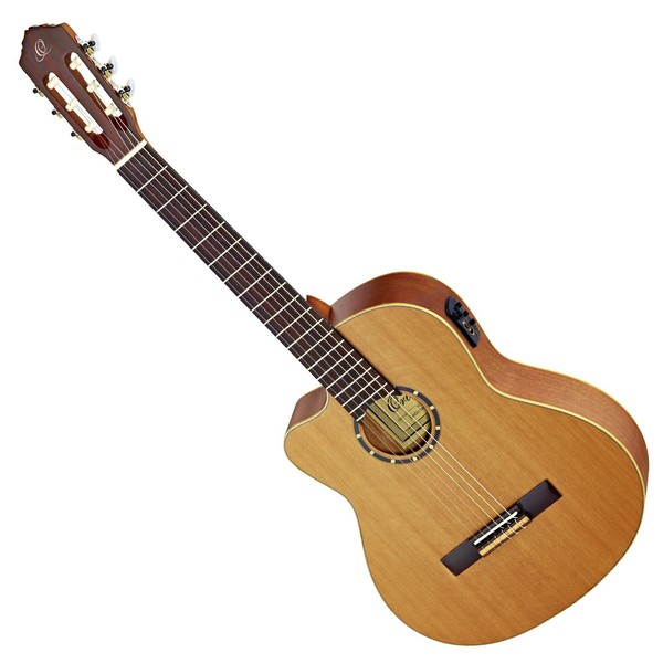 Ortega RCE131L Left Handed Electro Classical Guitar, Cedar - Front View
