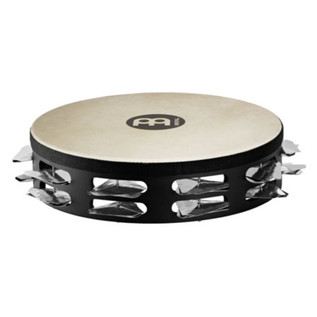 Meinl STAH2S-BK Super Dry Headed Tambourine, Stainless Steel Jingles