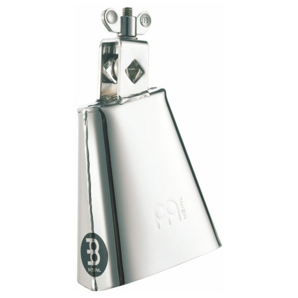 "Meinl STB45L-CH 4 1/2"" Chrome Finish Cowbell, Low Pitch"