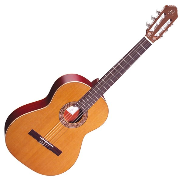 Ortega R200 Nylon, Solid Cedar Top - Front View