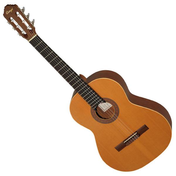 Ortega R180L Left Handed Classical Guitar, Solid Cedar Top