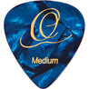Ortega OGP-BP-M10 Celluloid Plektren, Medium, blau    Pearl, 10ST