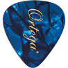 Ortega OGP-BP-T10 Celluloid Picks, Thin, Blue Pearl, 10pcs