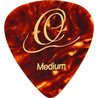 Ortega OGP-naar-M10 Celluloid Plectrums, Medium, Tortoise, 10st