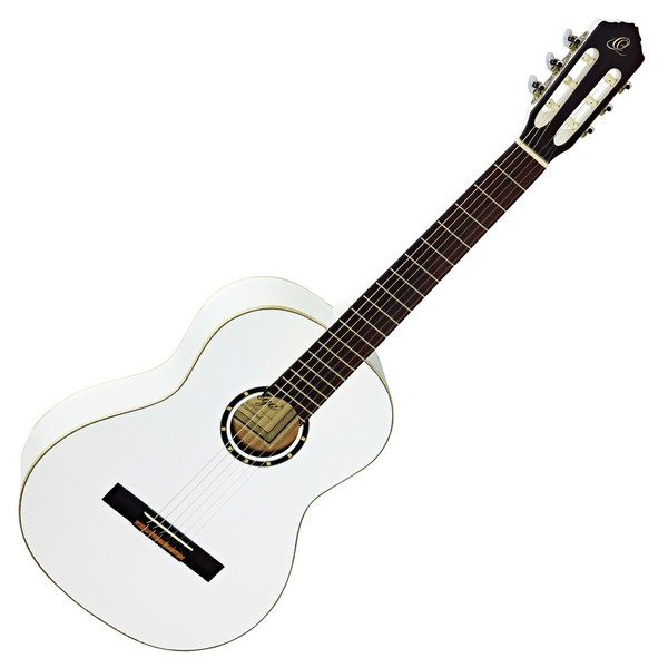 Ortega R121WH Classical Guitar, Spruce Top, White - Front View