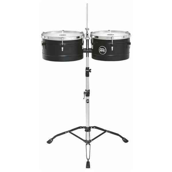 "Meinl TI1BK 13"" & 14"" Floatune Series Timbales, Black"