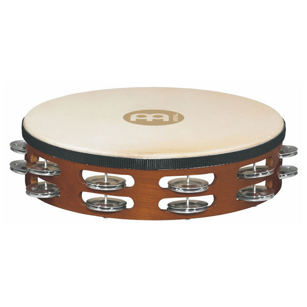 Meinl TAH2A-AB Double Row Headed Wood Tambourines, Aluminium Jingles