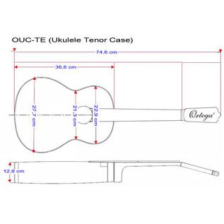 Ortega OUC-TE Professional Ukulele Case, Tenor Size - specs