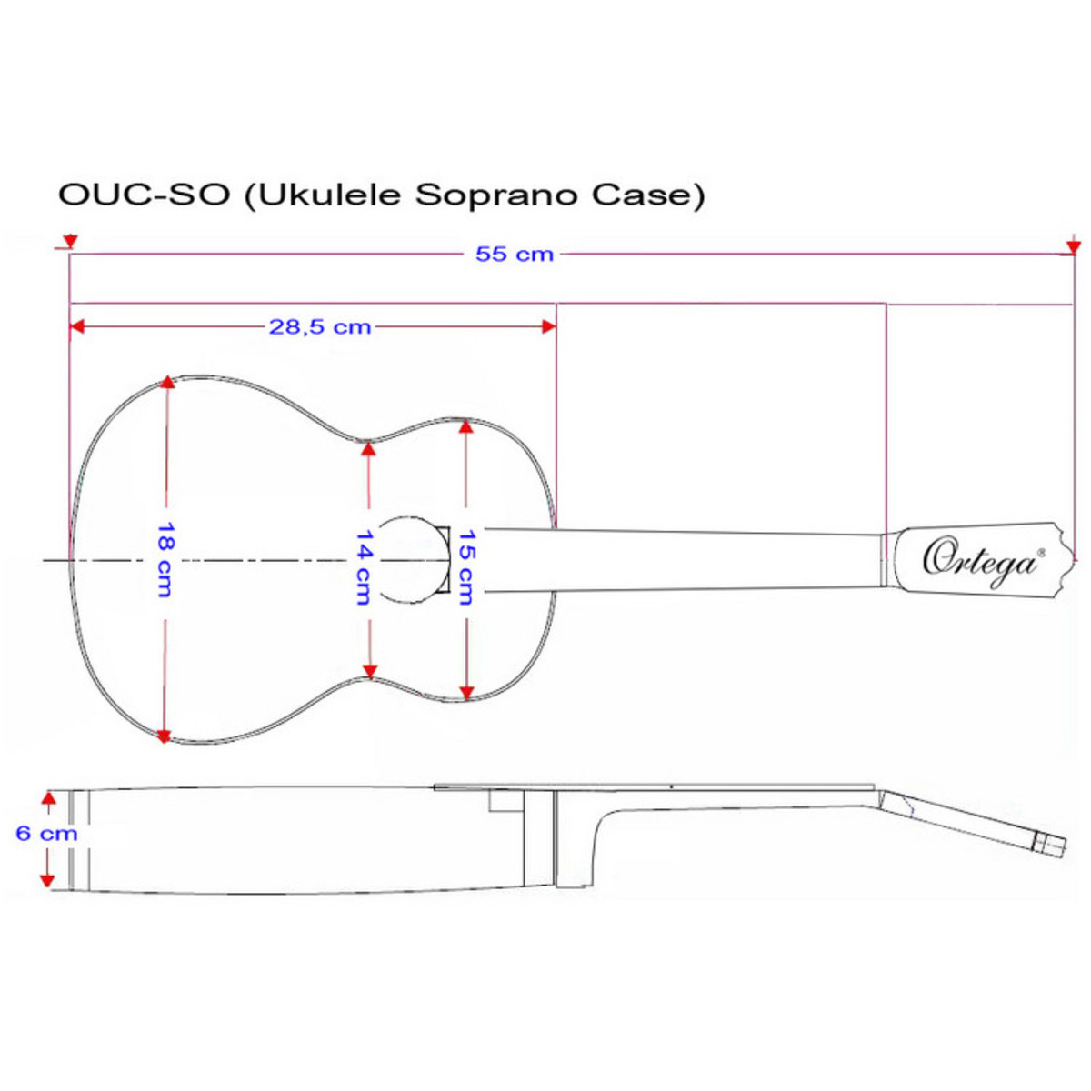 Ortega ouc so professional ukulele case soprano size at ortega ouc so professional ukulele case soprano size pooptronica