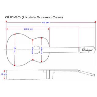 Ortega OUC-SO Professional Ukulele Case, Soprano Size