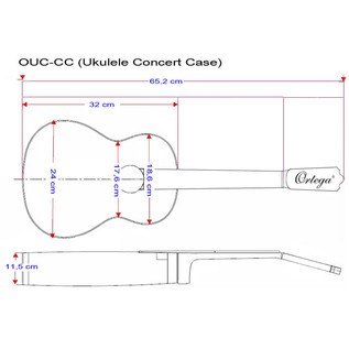 Ortega OUC-CC Professional Ukulele Case, Concert Size - specs