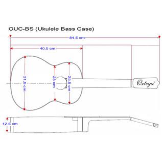 Ortega OUC-BS Professional Bass Ukulele Case