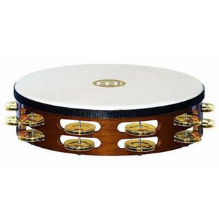 Meinl TAH2B-AB Double Row Headed Wood Tambourines - Brass Jingles