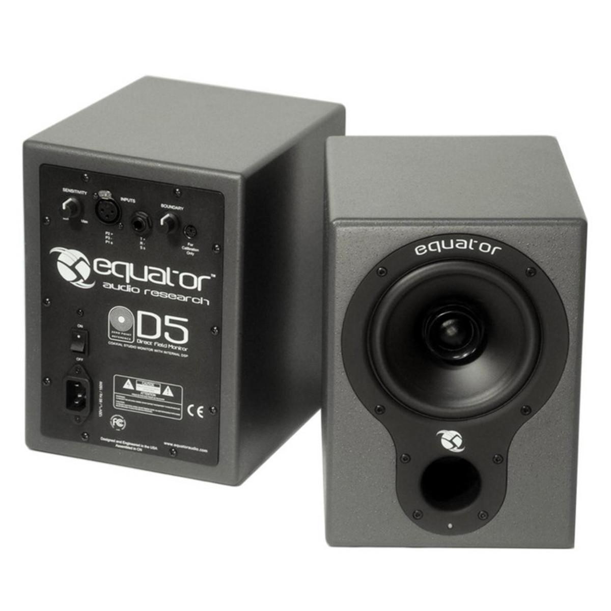 equator d5 active studio monitors with internal dsp pair at. Black Bedroom Furniture Sets. Home Design Ideas