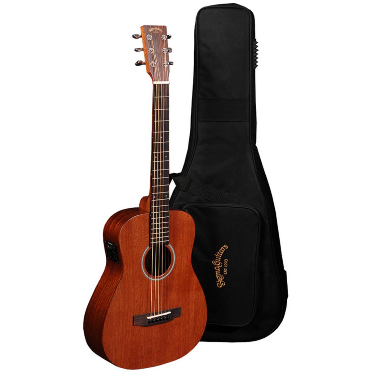 sigma tm 15e electro acoustic travel guitar mahogany at. Black Bedroom Furniture Sets. Home Design Ideas