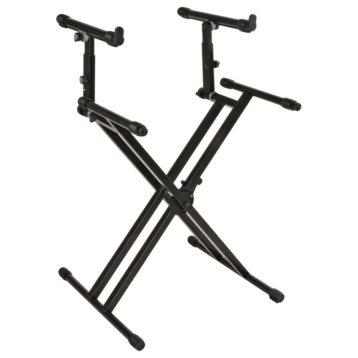 Click to view product details and reviews for Quiklok Ql742 Heavy Duty Double Braced Two Tier Keyboard Stand Black.