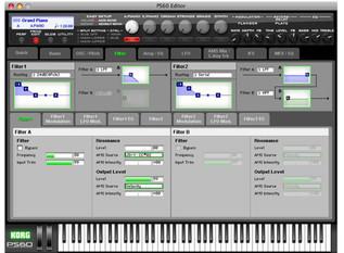Korg PS60 Performance Synthesizer - editor