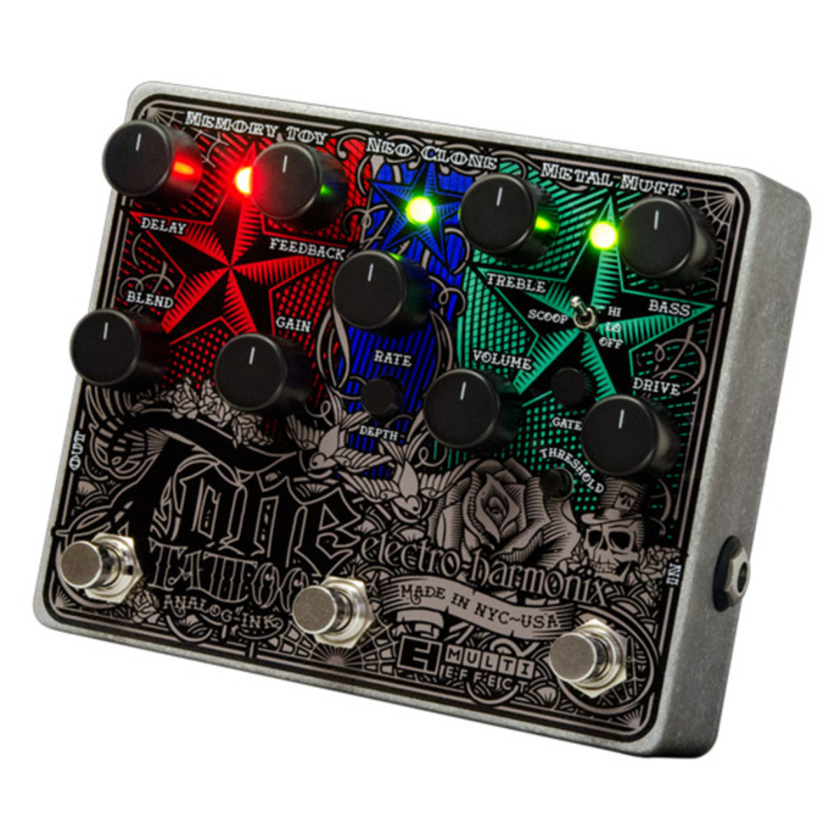 Click to view product details and reviews for Electro Harmonix Tone Tattoo Analog Multi Effects Pedal.