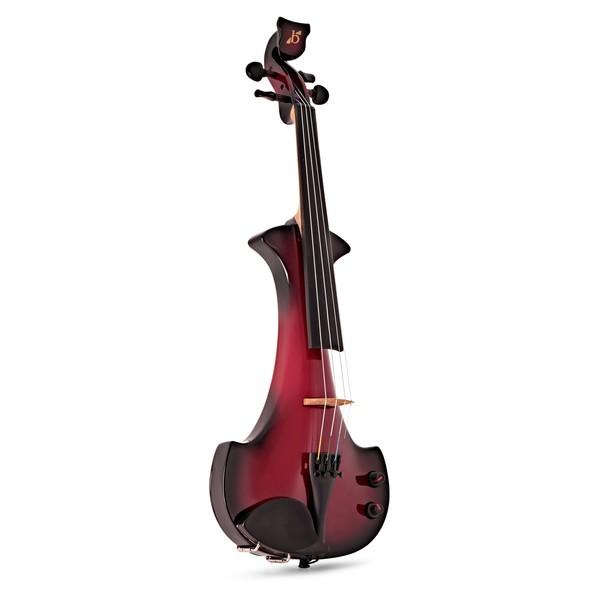 Bridge Aquila Electric Violin, Black and Red main
