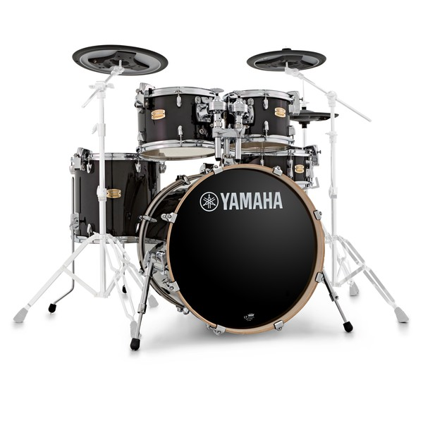 Yamaha Stage Custom Shell Pack with DTX Hybrid Pack, Raven Black main