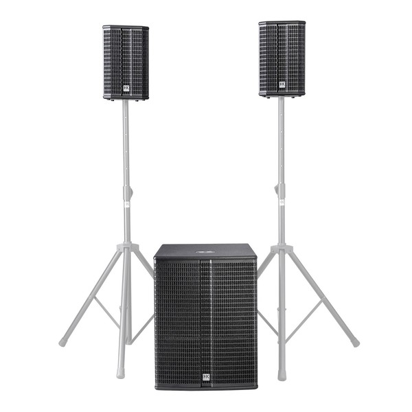 HK Audio LUCAS 2K18 Active 2.1 PA System, 18'' Sub, Full System Front