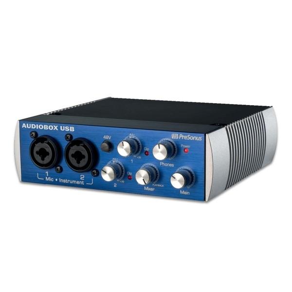 PreSonus Audiobox 96 USB Audio Interface - Angled