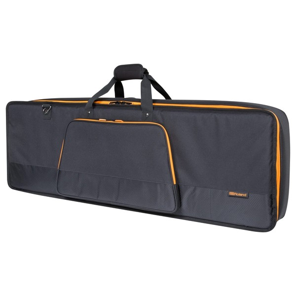 Roland CB-G61 61-Key Keyboard Bag with Shoulder Straps - Angled Closed