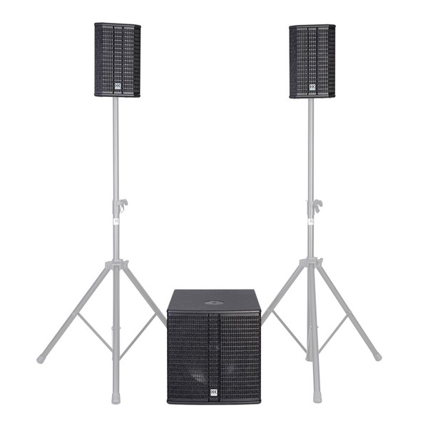 HK Audio LUCAS 2K15 Active 2.1 PA System, 15'' Sub, Full System Front