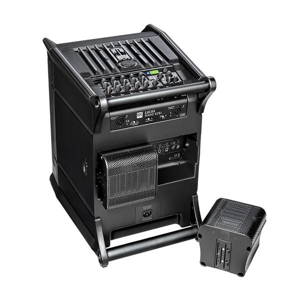 HK Audio LUCAS Nano 608i PA System, Sub Rear Angled and Satellites