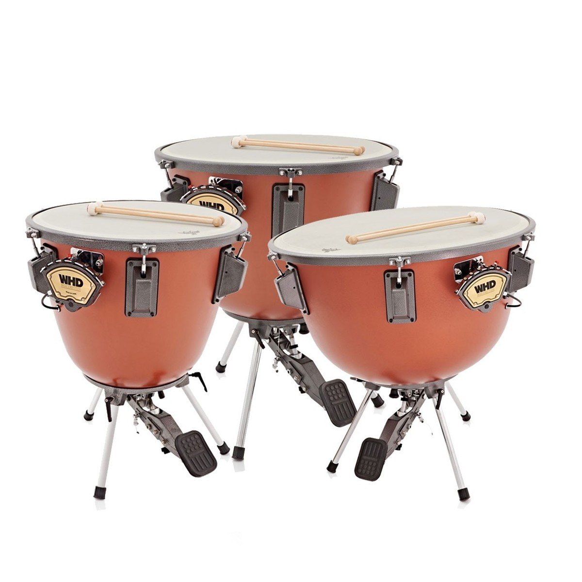 whd orchestral 3 piece timpani drum set at gear4music