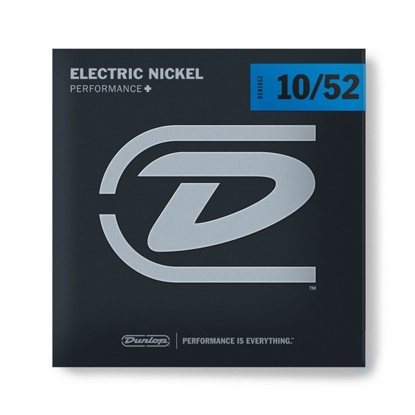 Dunlop Electric Guitar Strings, Nickel Wound, Light/Heavy 10-52