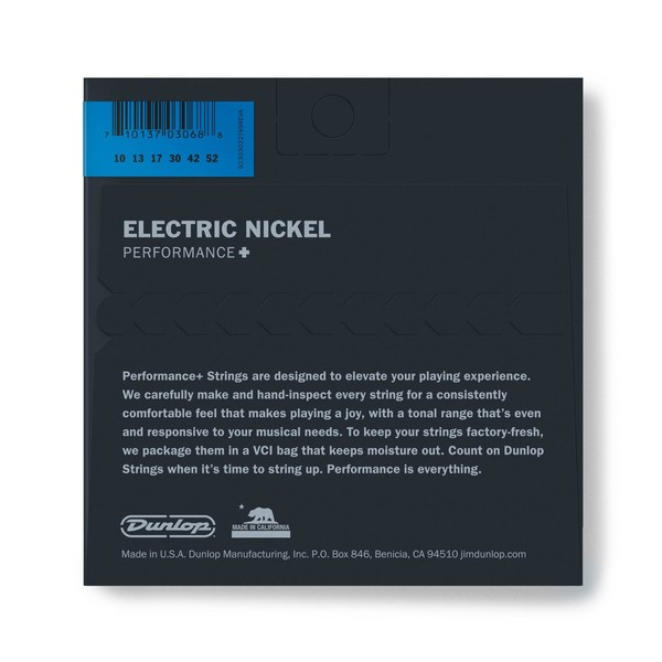Dunlop Electric Guitar Strings, Nickel Wound, Light/Heavy 10-52 - back