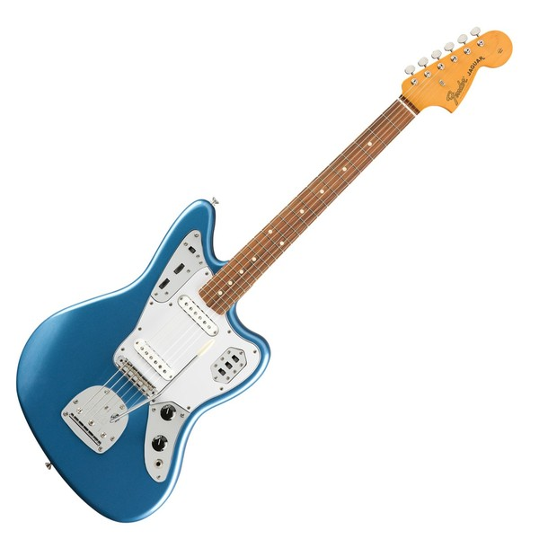 Fender '60s Jaguar Lacquer PF, Lake Placid Blue - Front