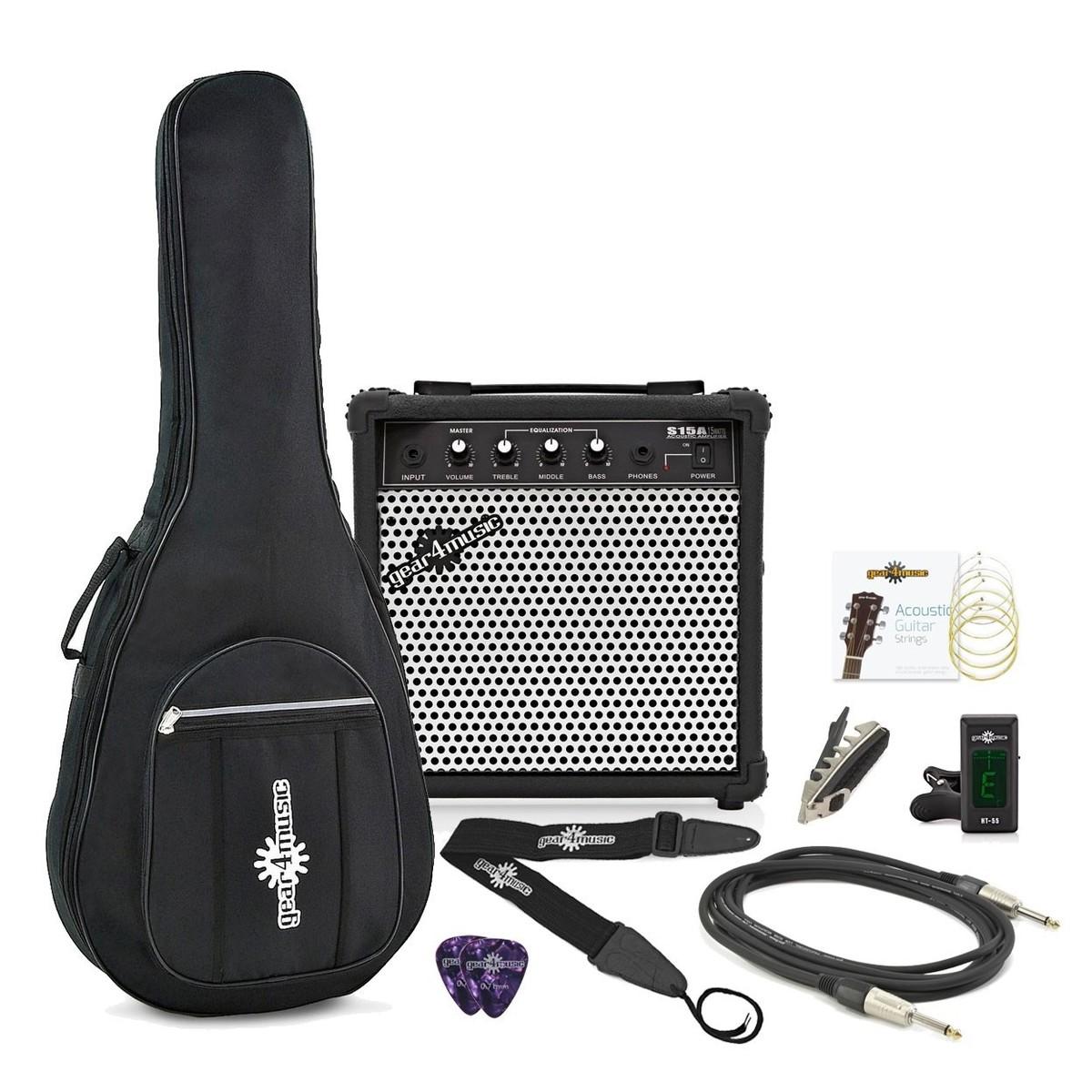 15 Watt Acoustic Guitar Amp & Accessory Pack