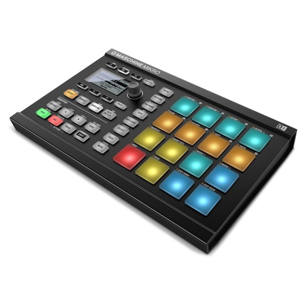 Native Instruments Maschine Mikro MK2, Black - Angled