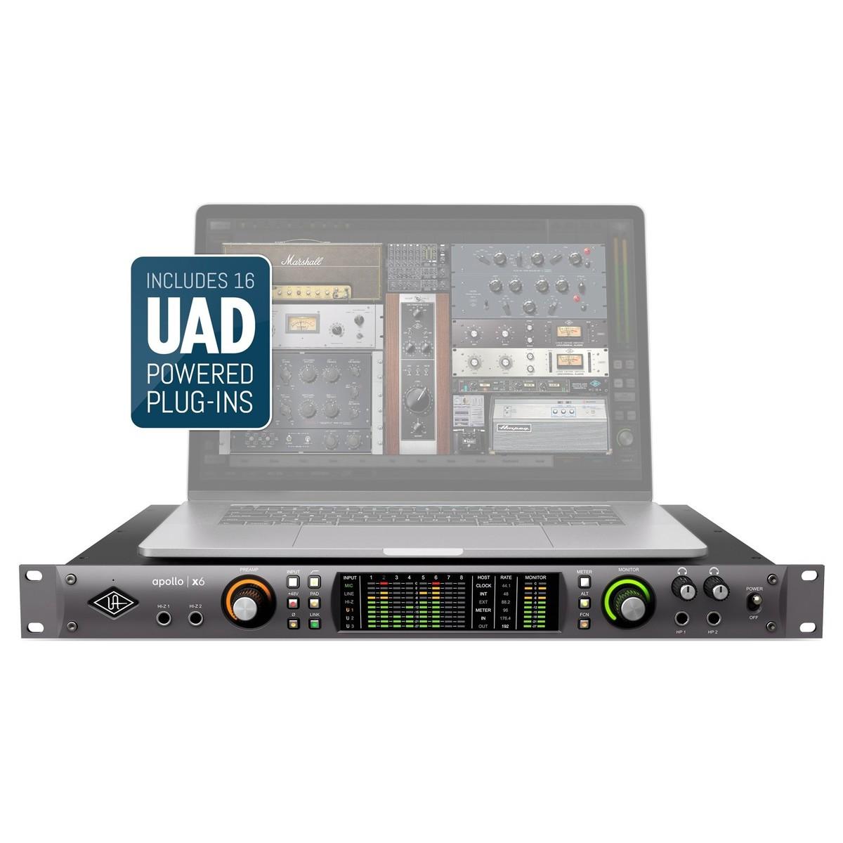 universal audio apollo x6 thunderbolt 3 audio interface at gear4music. Black Bedroom Furniture Sets. Home Design Ideas