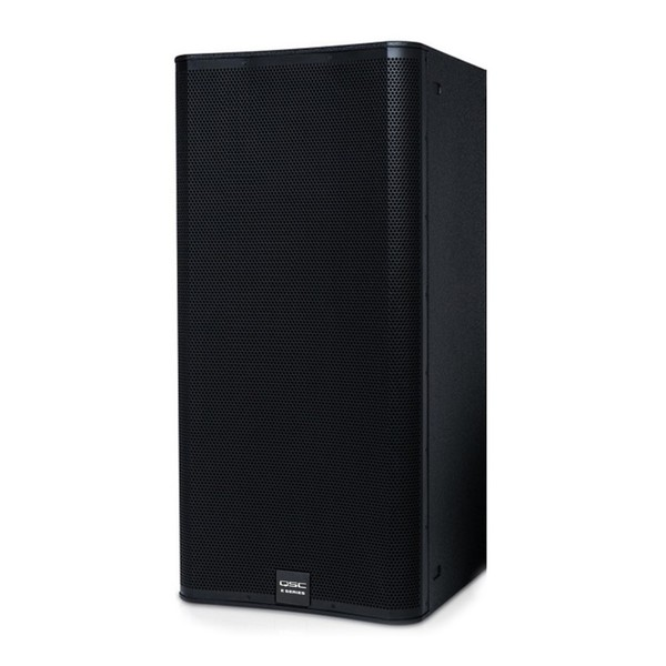 """QSC E Series E218SW Dual 18"""" Passive Subwoofer, Front Angled Left"""
