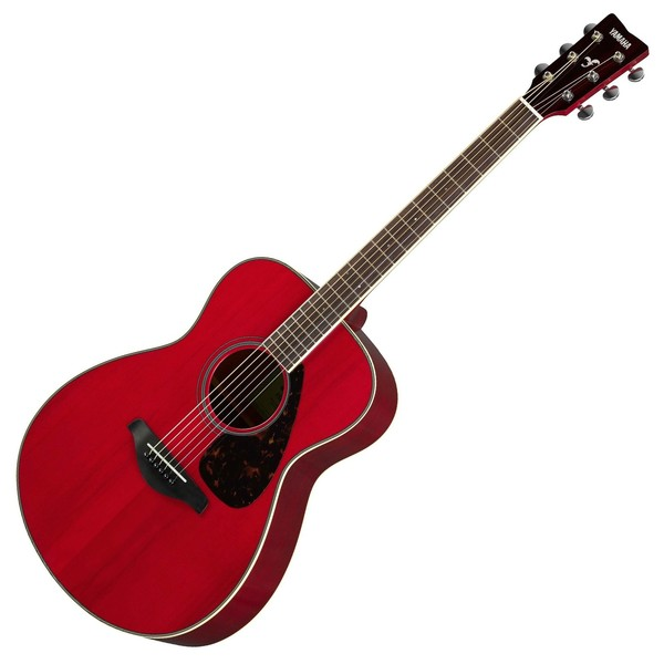 Yamaha FS820 Acoustic, Ruby Red Front View