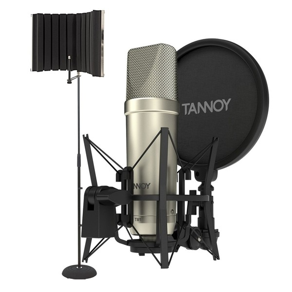 Tannoy TM1 Recording Package with Reflection Filter And Mic Stand - Bundle