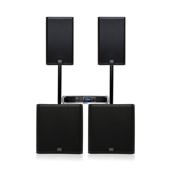 QSC E Series E112 and E118SW Complete PA System Full Package
