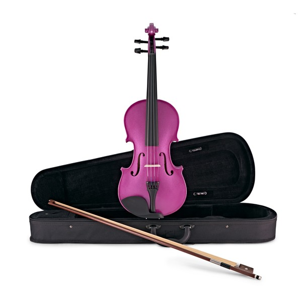 Student 4/4 Violin by Gear4music, PURPLE SPARKLE main